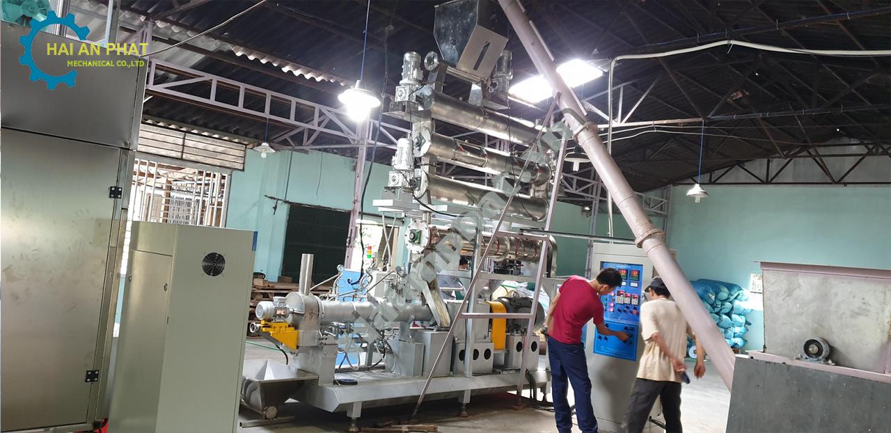 Dây chuyền sản xuất cám tôm Thanh Hóa