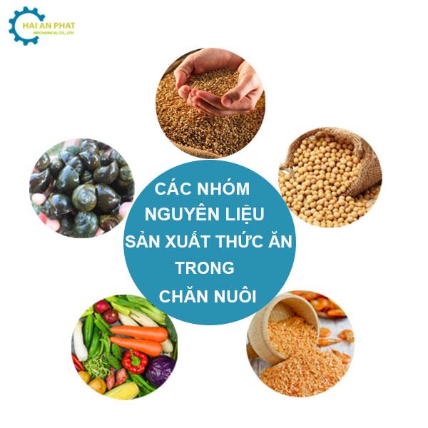 Nguyên liệu sản xuất thức ăn trong chăn nuôi